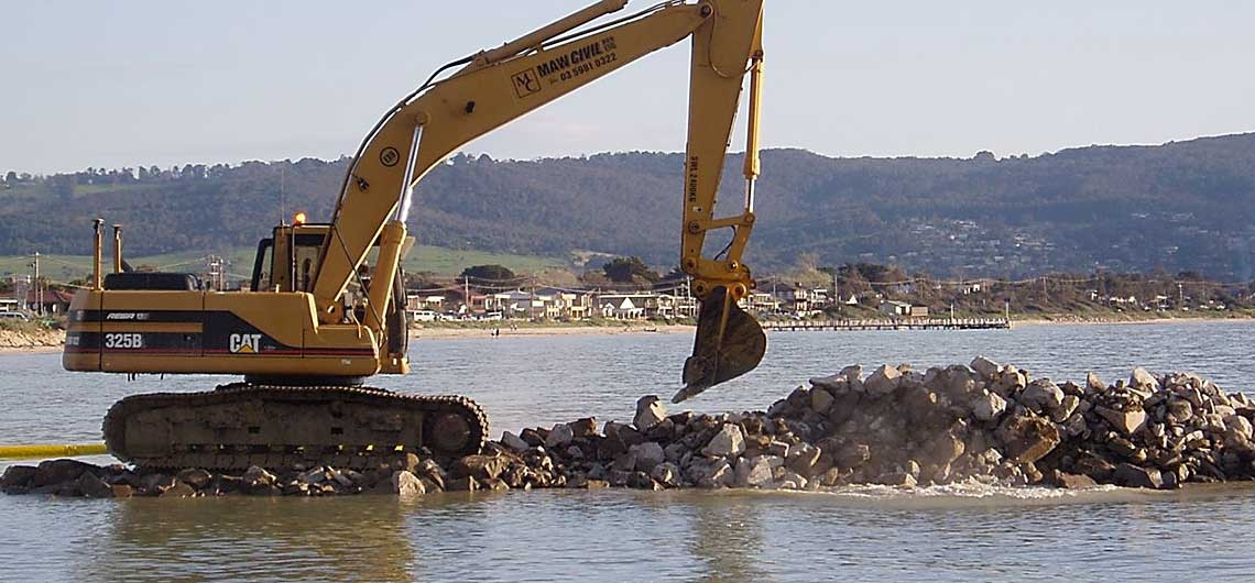 MARINE – The ability to cater for all your marine/coastal construction, dredging and maintenance services.